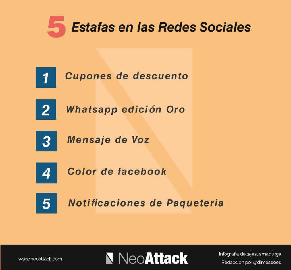 estafas redes sociales