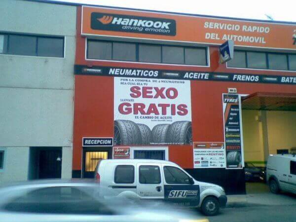 anuncios publicitarios neumáticos