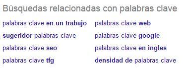 palabras clave SEO Google