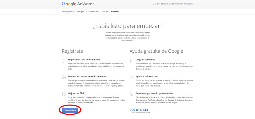 tarifas adwords