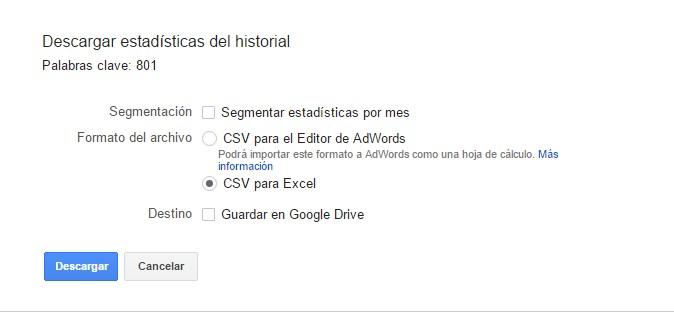 estadisticas historial google adwords planificador