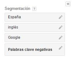 segmentacion planificador google adwords