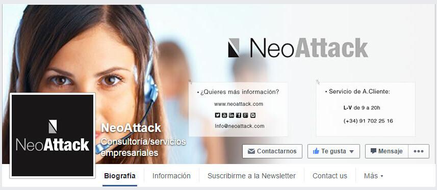 página de facebook para empresa claves