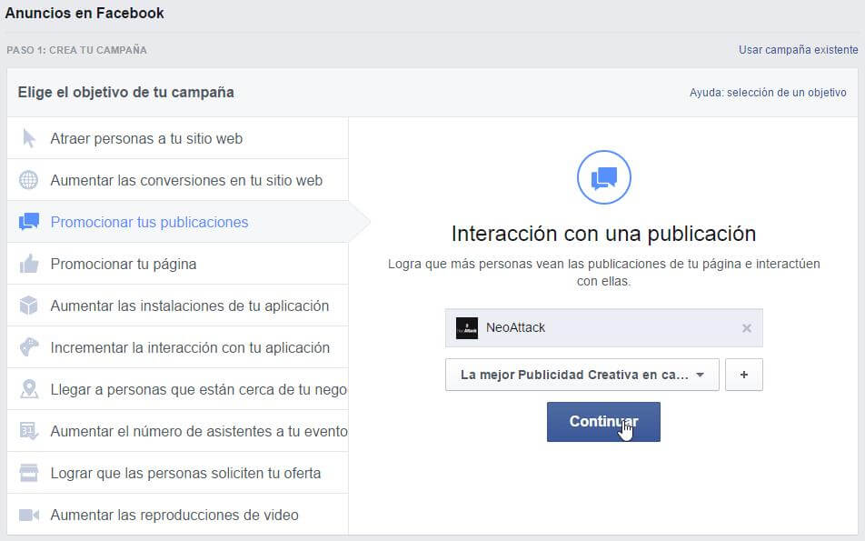 anuncios de facebook para empresas
