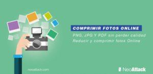 Reducir y Comprimir fotos online sin perder calidad