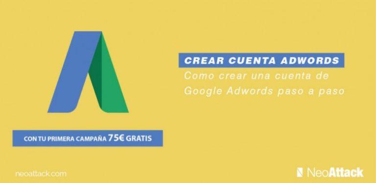 como crear cuenta en google adwords