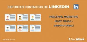 Como exportar los contactos de Linkedin a Excel
