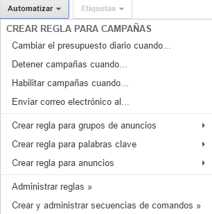 reglas adwords