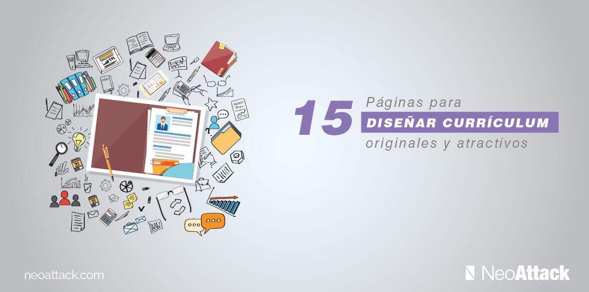 15 páginas web para diseñar un currículum original y atractivo
