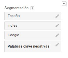 segmentación adwords