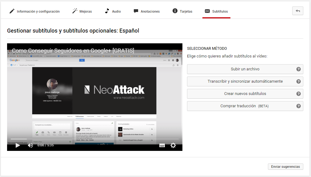 subtitulos youtube