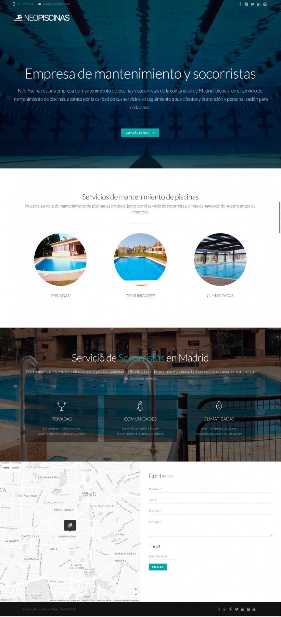 diseño web piscinas