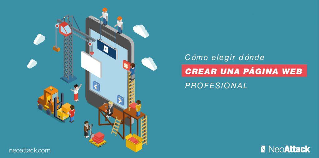 crear una pagina web profesional