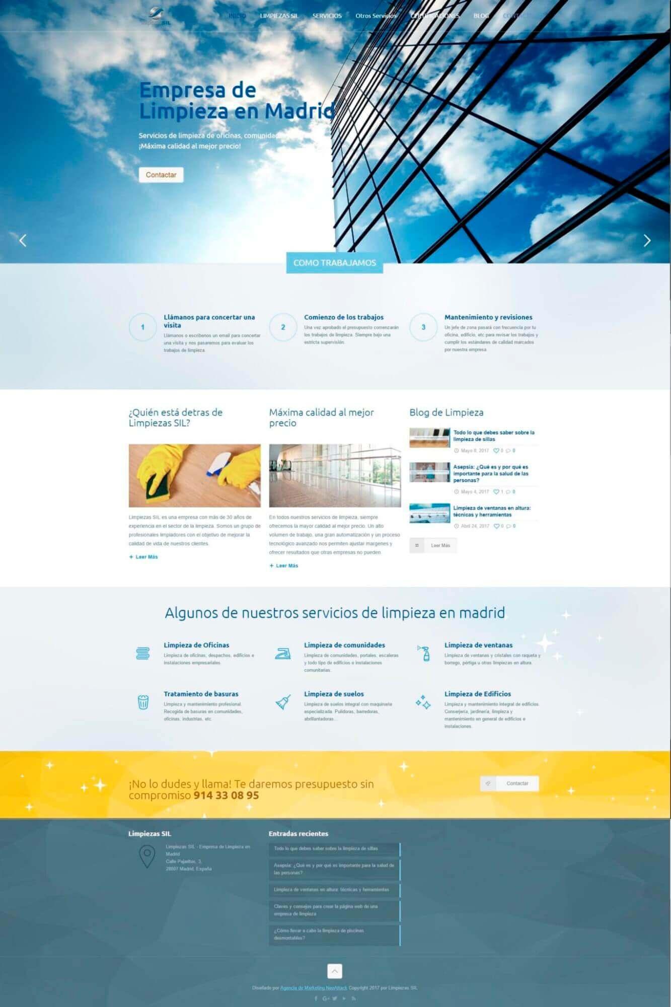 diseño web limpieza
