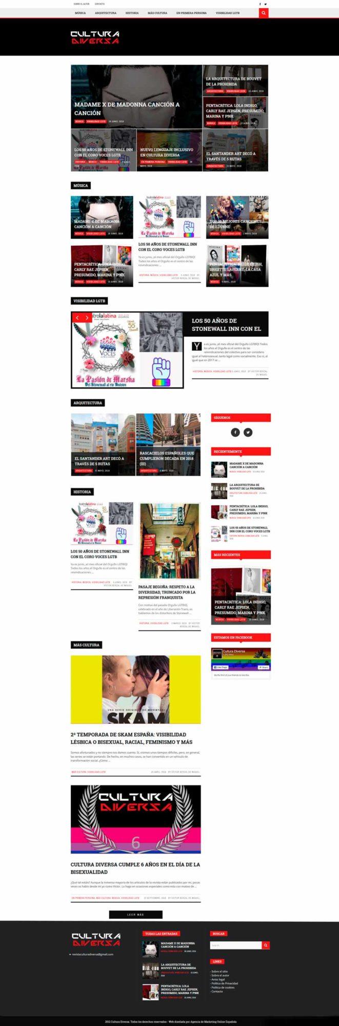 diseño web revista online