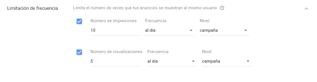 Limitación en Adwords