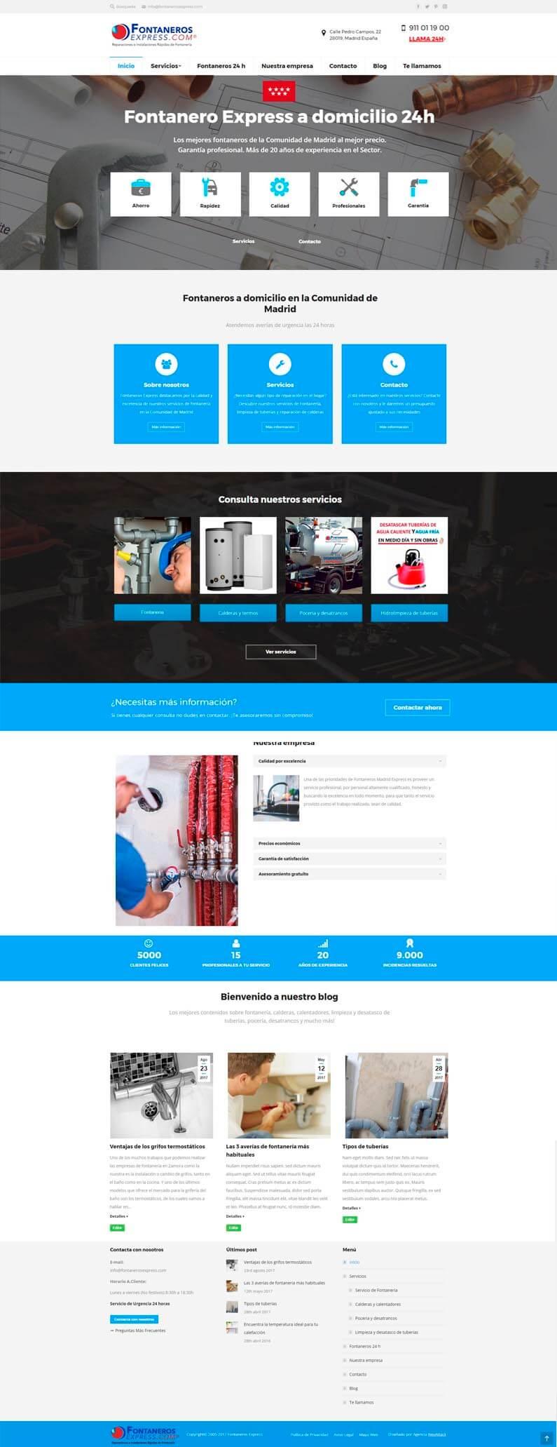 diseño web fontaneros