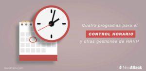 4 programas para el control horario y otras gestiones de RRHH