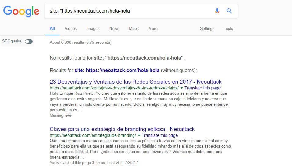 Web indexada
