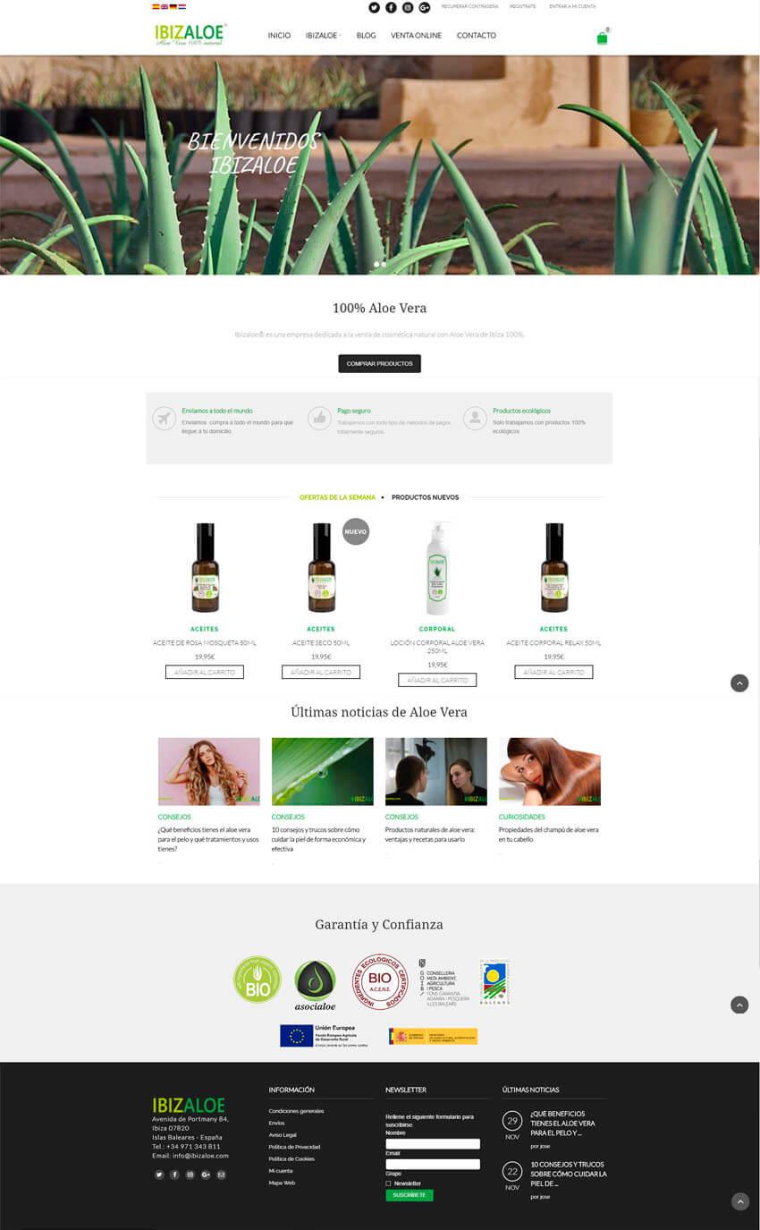 diseño web de cosmetica