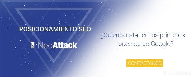Banner Servicio Posicionamiento SEO NeoAttack