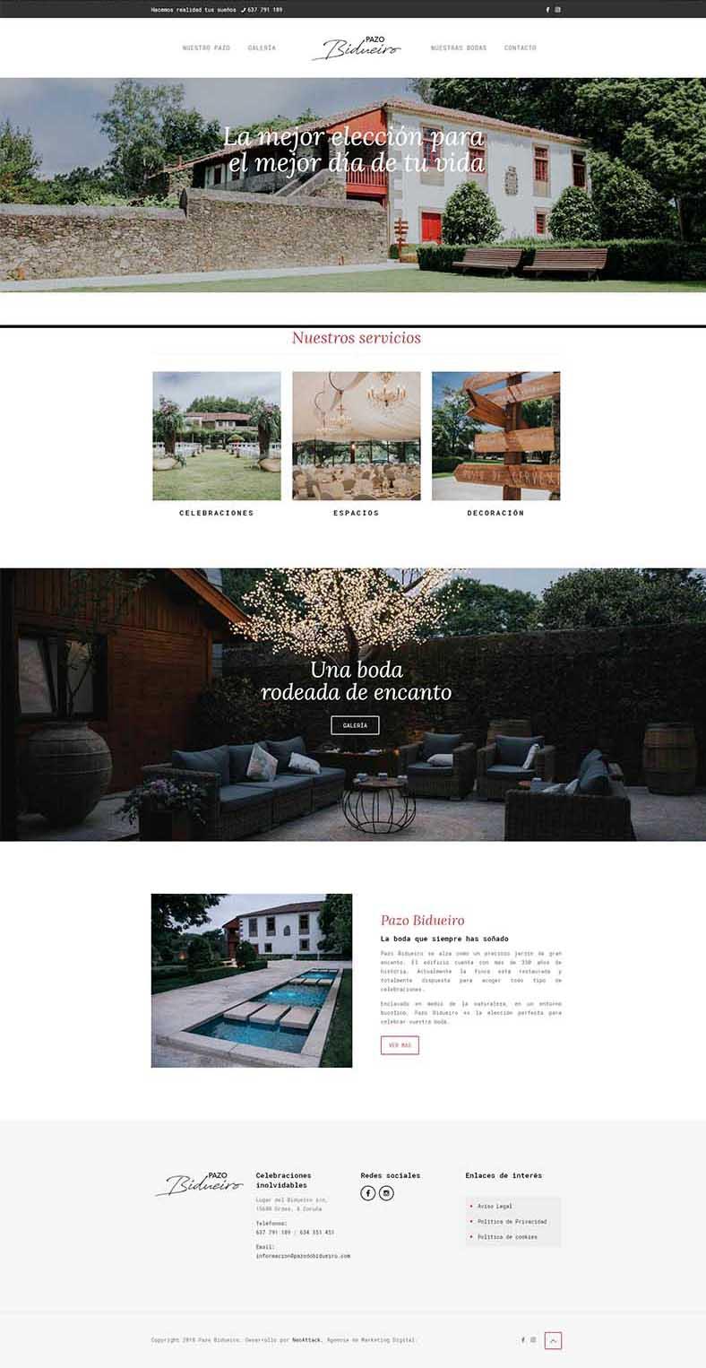 Proyecto Página web finca para bodas