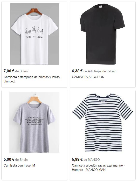 elementos de Google Shopping