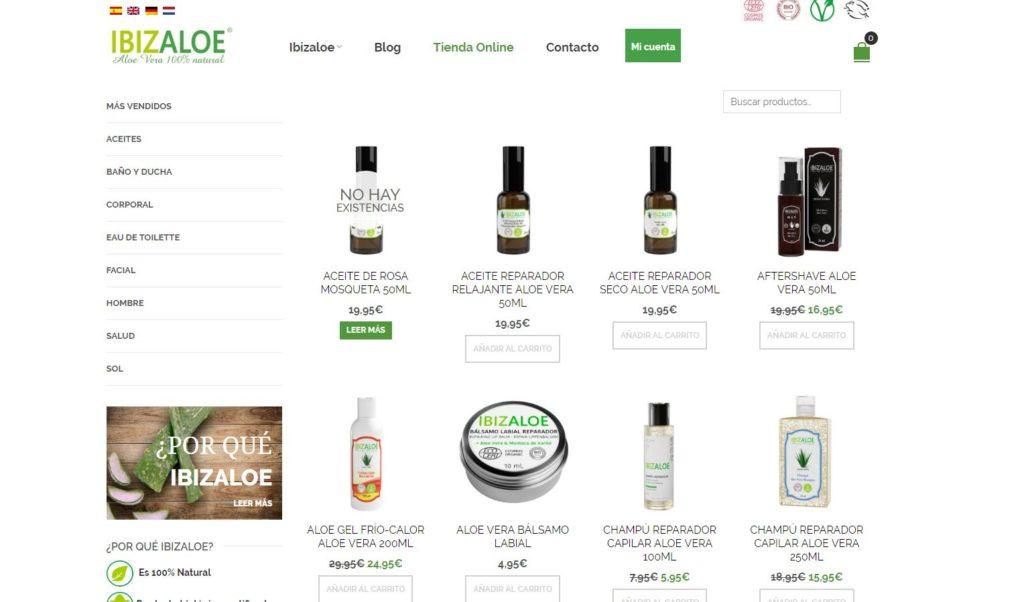 Tienda online de Aloe Vera