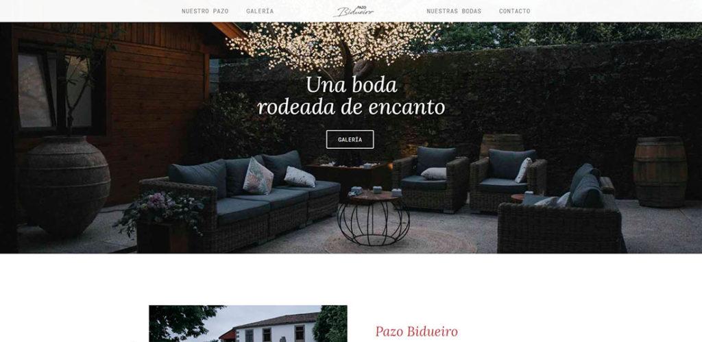 WordPress pazo bidueiro