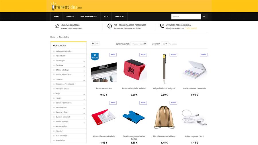 Tipos de páginas web - ECommerce