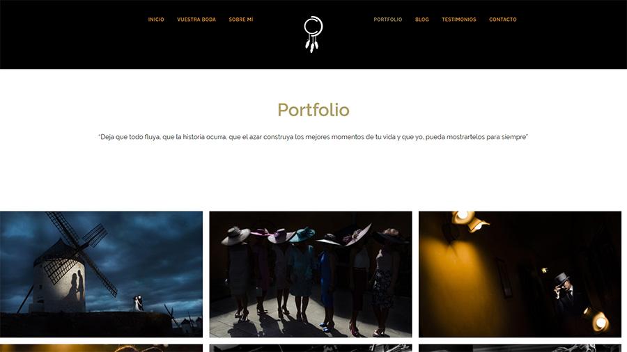 Tipos de páginas web - Portfolios