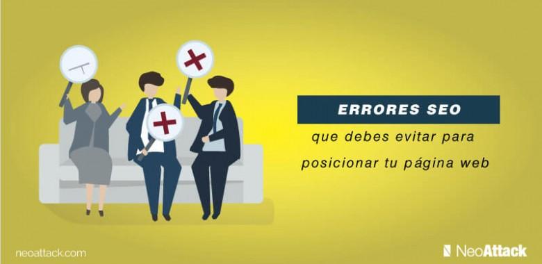 9 errores seo que debes evitar para posicionar tu web