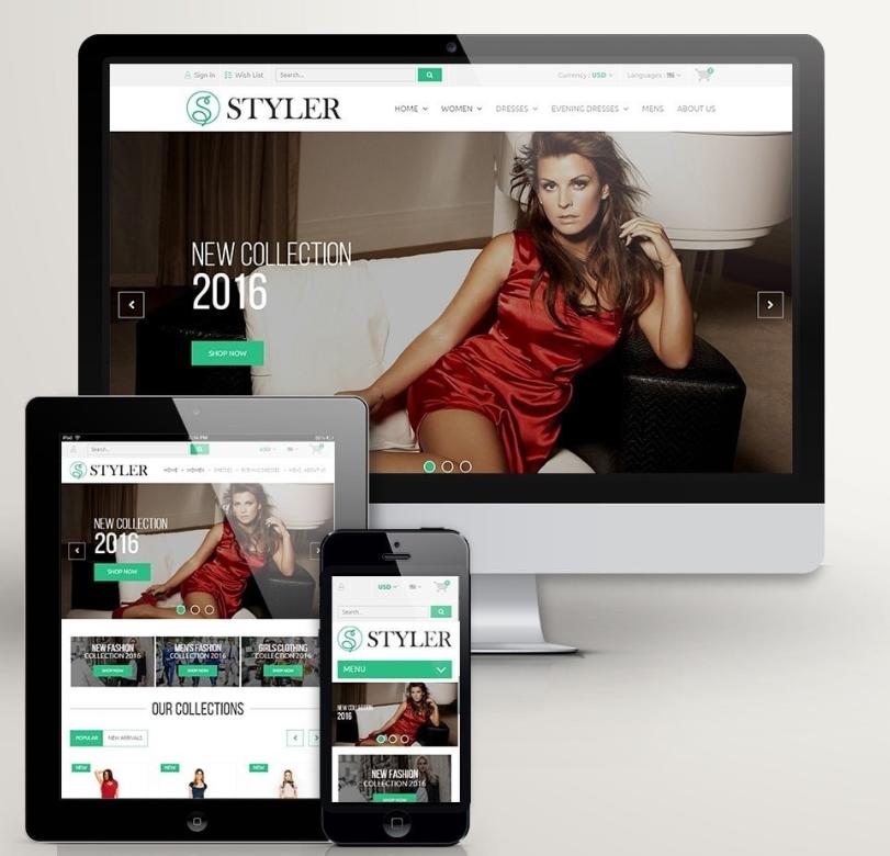 visualización de plantilla styler Shop mejores plantillas prestashop