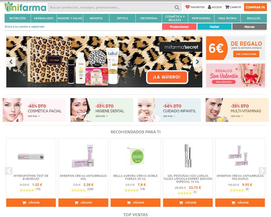 Tienda online de productos farmacéuticos