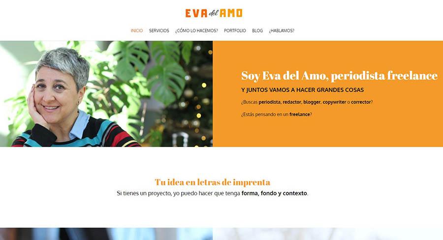ejemplo de pagina web periodista freelance