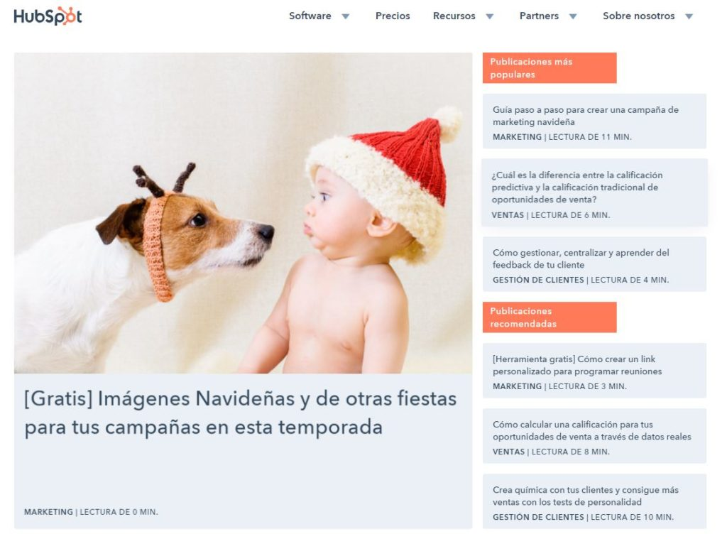HubSpot: blog de Inbound Marketing