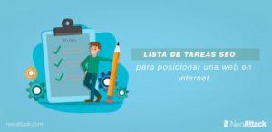 Lista de tareas SEO para posicionar una página web en internet
