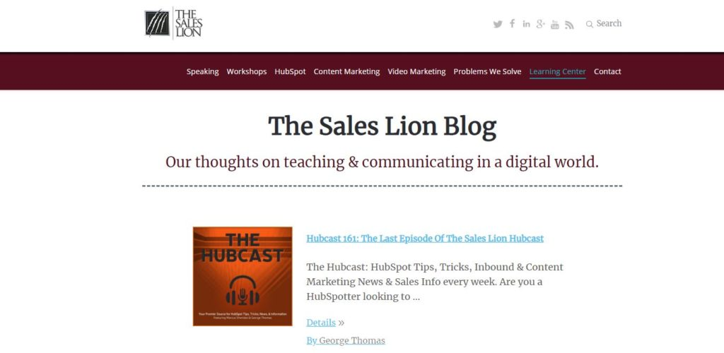 Blog de Inbound Marketing: The Sales Lion