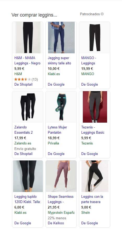 ejemplo de campaña shopping