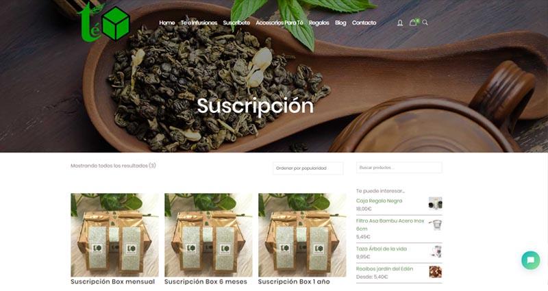 Diseño web de infusion y te box