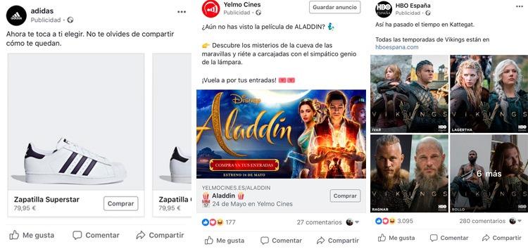 Ejemplos de publicidad en facebook