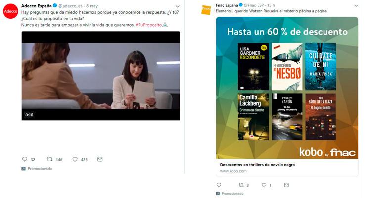 ejemplos de publicidad en twitter
