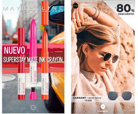 ejemplos de publicidad en stories
