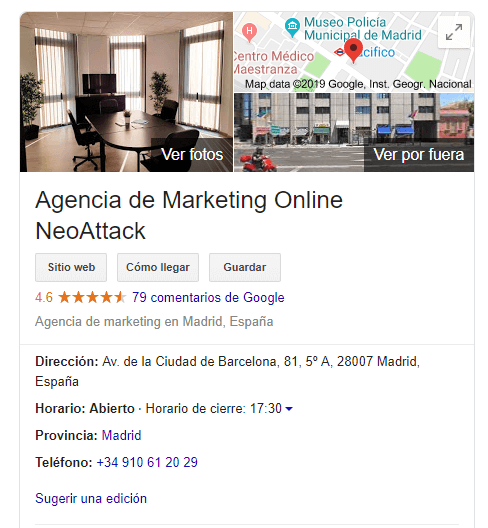 SEO rápido en Google My Business