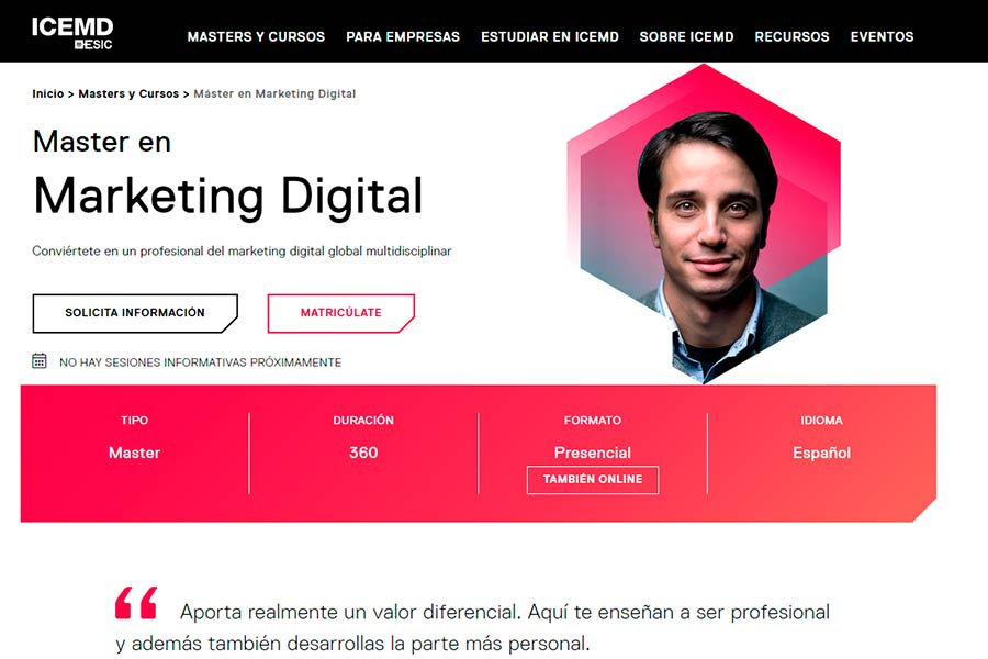 especializacion en marketing digital