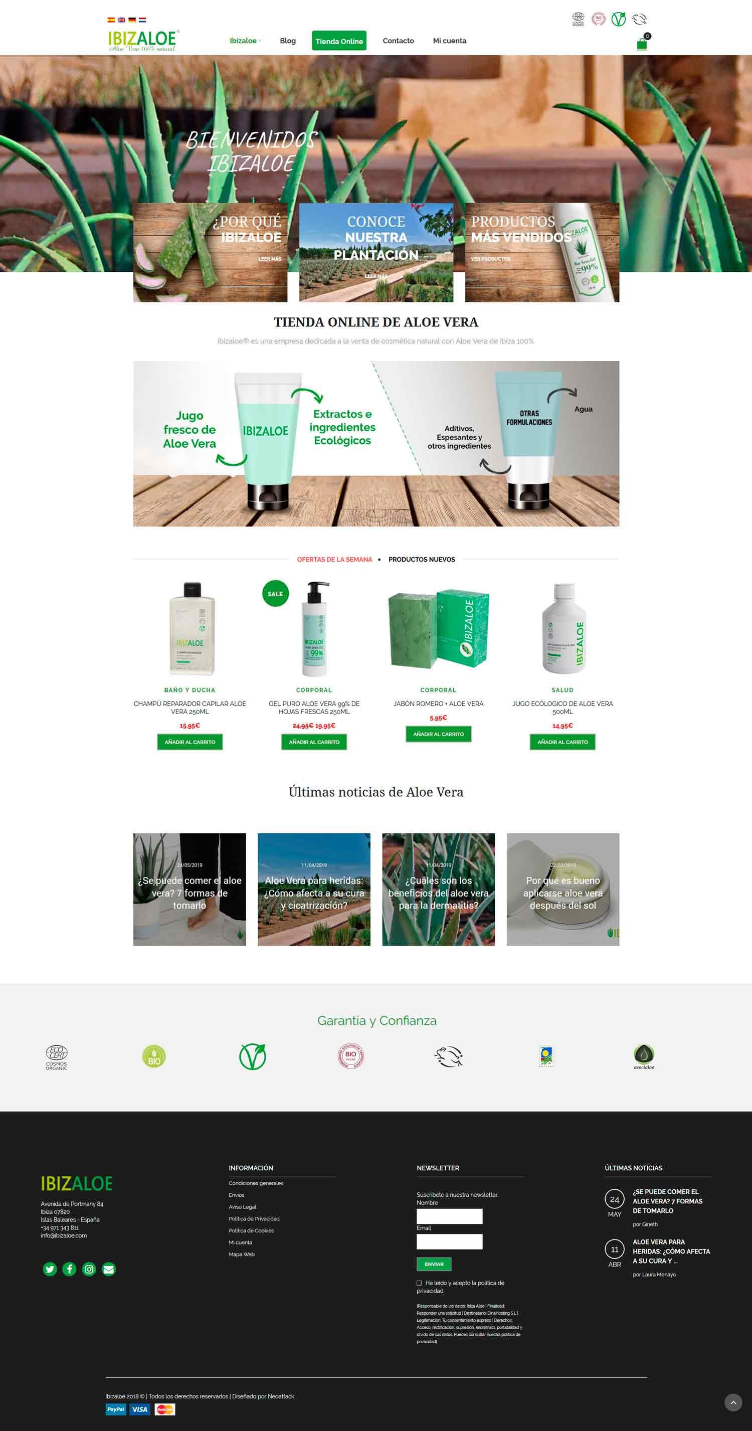 web tienda de cosméticos