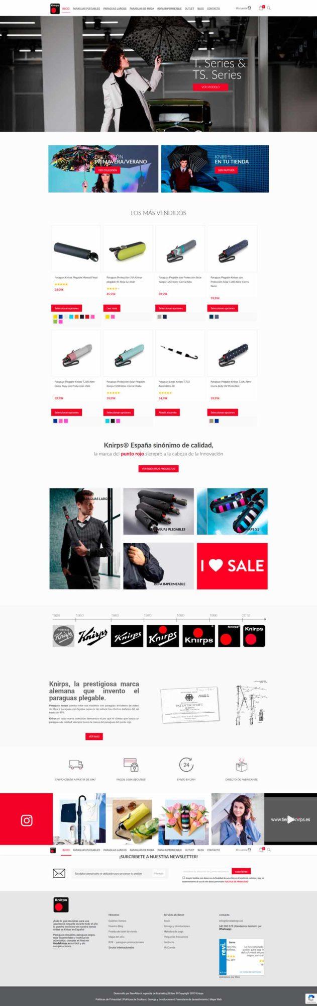 diseno web tienda paraguas
