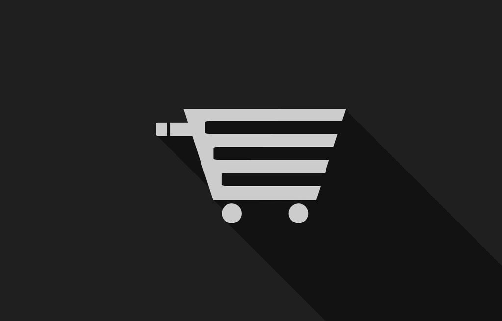 Icono de carrito de compra en Ecommerce
