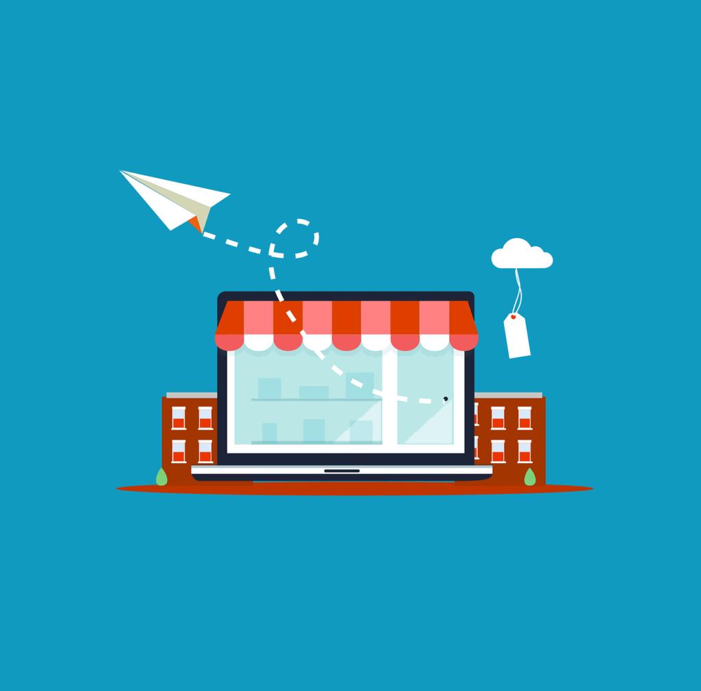 Infografía que ilustra una tienda online