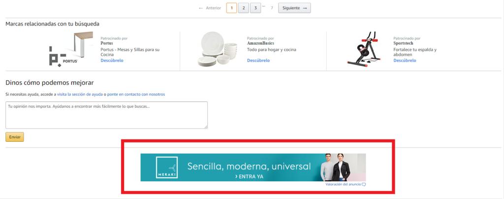 Campañas de display en Amazon